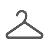 Hanger icon . Flat design style. Hanger icon. Flat design style. Hanger silhouette. Simple icon. Modern flat icon web site page and mobile app design vector Stock Photos