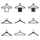 Hanger icon set. Hanger vector icons set. Black illustration isolated on white background for graphic and web design Royalty Free Illustration