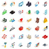 Hanger icons set, isometric style Stock Photography