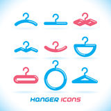 Hanger Icons. Vector Glossy Hanger Icons, Button, Sign, Symbol, Logo Stock Images