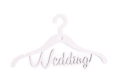 Hanger with the inscription Wedding. Royalty Free Stock Photos