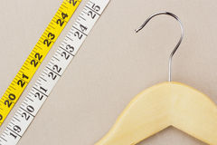 Hanger and Measuring Tape Stock Images