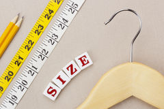 Hanger and Measuring Tape Stock Image