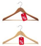Hanger met verkoopmarkering stock illustratie