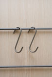Hanger metal hooks for furnitures Stock Images