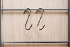 Hanger metal hooks for furnitures Stock Photo