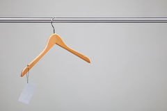 Hanger with a price Royalty Free Stock Image