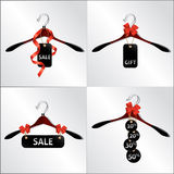 HANGER SALE. Hanger design, emblem, sale in the shop, discount on clothing Royalty Free Stock Photos