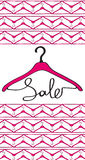 Hanger sale Royalty Free Stock Images