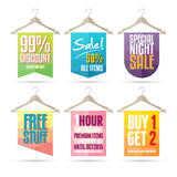 Hanger Sale Label Stock Photography