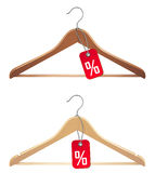 Hanger with sale tag. Illustration of hanger with sale tag Royalty Free Stock Image