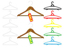 Hanger set Royalty Free Stock Image