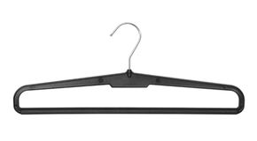 Hanger for trousers. The hanger for trousers on white background Stock Image