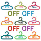 Hanger vector sale set. On the white background Stock Photo