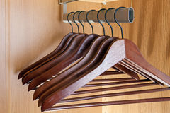 Hanger in a wardrobe Royalty Free Stock Photos