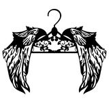 Hanger with wings black vector design Royalty Free Stock Image