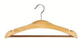 Hanger. Wood coat hanger Stock Images