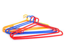 Hangers. Colorful hangers isolated on white background Stock Photo