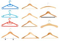 Hangers. Coat Hanger - isolated on white Stock Photos