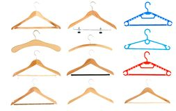 Hangers. Isolated over a white background Stock Photo