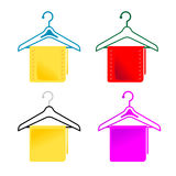 Hangers and cloth Royalty Free Stock Image