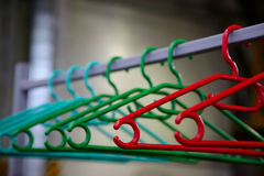 Hangers for coats Royalty Free Stock Image