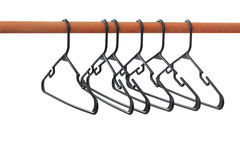 Hangers on a Rod, Isolated Stock Image