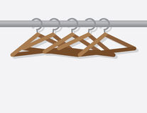 Hangers On Rod Stock Image
