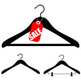 Hangers with sale Stock Image