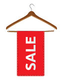 Hangers with sale Royalty Free Stock Photos