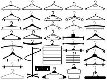 Hangers set Stock Photo