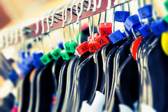 Hangers sizes Stock Photography