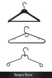 Hangers vector Royalty Free Stock Photography