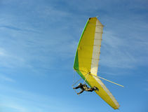 Hangglider. On blue sky stock image