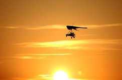 Hanggliding. Is on sport airport of Szolnok royalty free stock photos