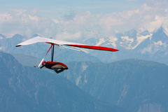 Hanggliding In Swiss Alps Stock Images