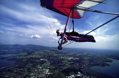 Hanggliding at North Italy 1 royalty free stock photography