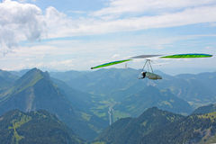 Hanggliding in Swiss Alps Royalty Free Stock Image