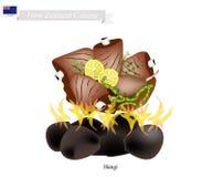 Hangi, Nouvelle-Zélande traditionnel Maori Dish Photographie stock