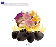 Hangi, Nouvelle-Zélande traditionnel Maori Dish Image stock