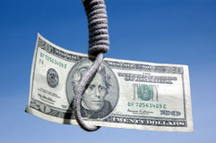 Hanging $20.00 Royalty Free Stock Images