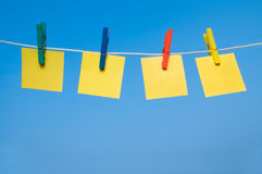 Hanging Adhesive Notes Stock Images