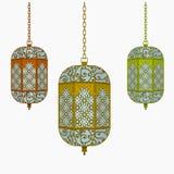 Hanging Arab Lantern. Editable Hanging Arab Lantern Vector Illustration for Ramadan Concept stock illustration