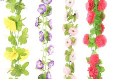Hanging artificial flowers. Royalty Free Stock Image