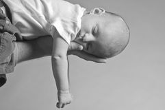 Hanging Baby Royalty Free Stock Images