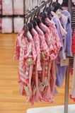 Hanging baby clothes Stock Photography