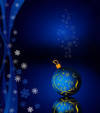 Hanging ball and snowflakes Royalty Free Stock Photography