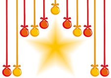 Hanging balls and star Stock Image