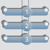 Hanging banners for business concepts Stock Photos