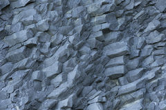 Hanging basalt columns as background Royalty Free Stock Photos